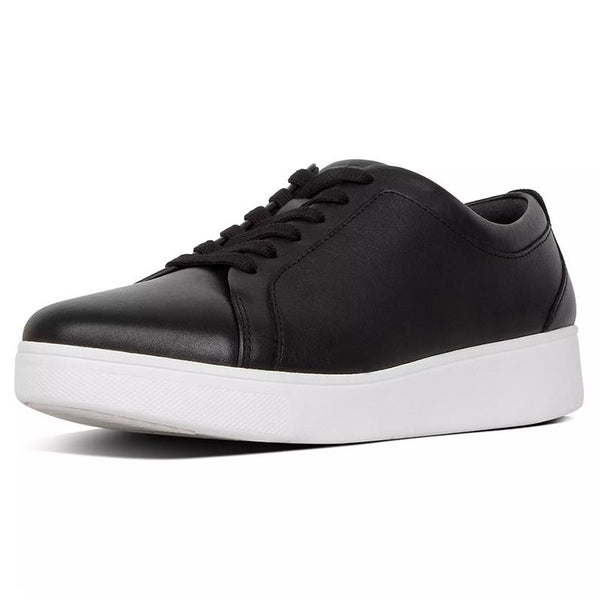 FitFlop Rally Leather Sneakers - Black