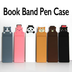 Silicone Book Band Pen Case