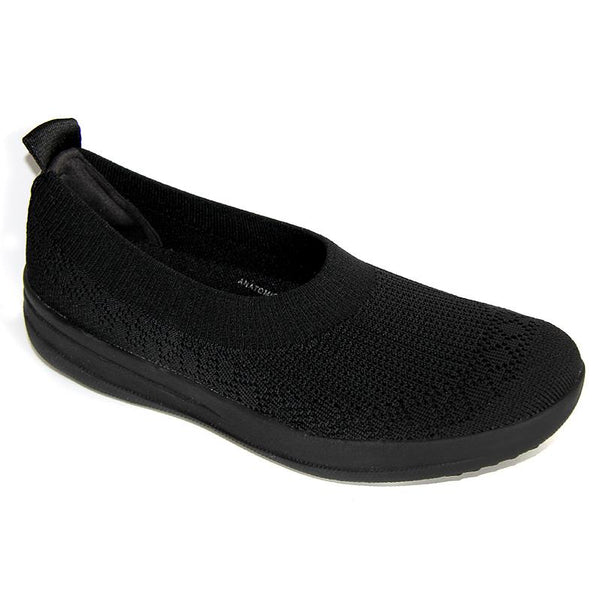 FitFlop Uberknit Slip-On Ballerina All Black