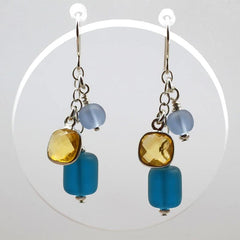 BRITISH SQUARE EARRINGS by Elizabeth Burry Design