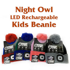 Night Owl Rechargeable LED Beanie for Kids