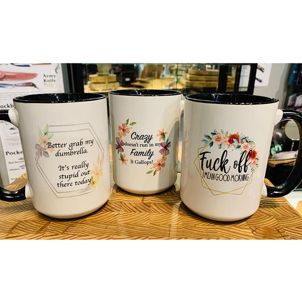 Saucy Themed Mugs