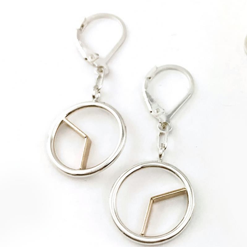 Constantine Designs Time Drop Earrings ss/14k