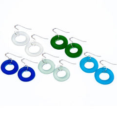 Recycled Bottle Seaglass Earrings