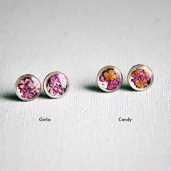 Flora & Forest Circle Studs - Real Flowers