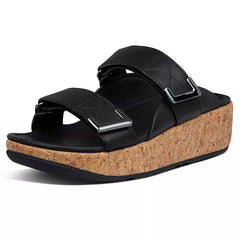 FitFlop Remi Adjustable Leather Slides