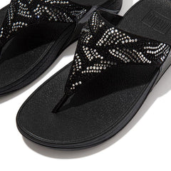Fitflop Lulu Crystal Feather - All Black