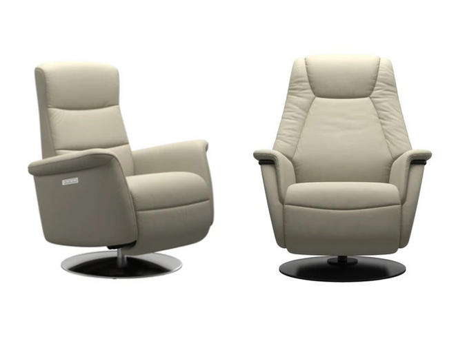 Meet Stressless new Relaxer Recliners, Mike and Max