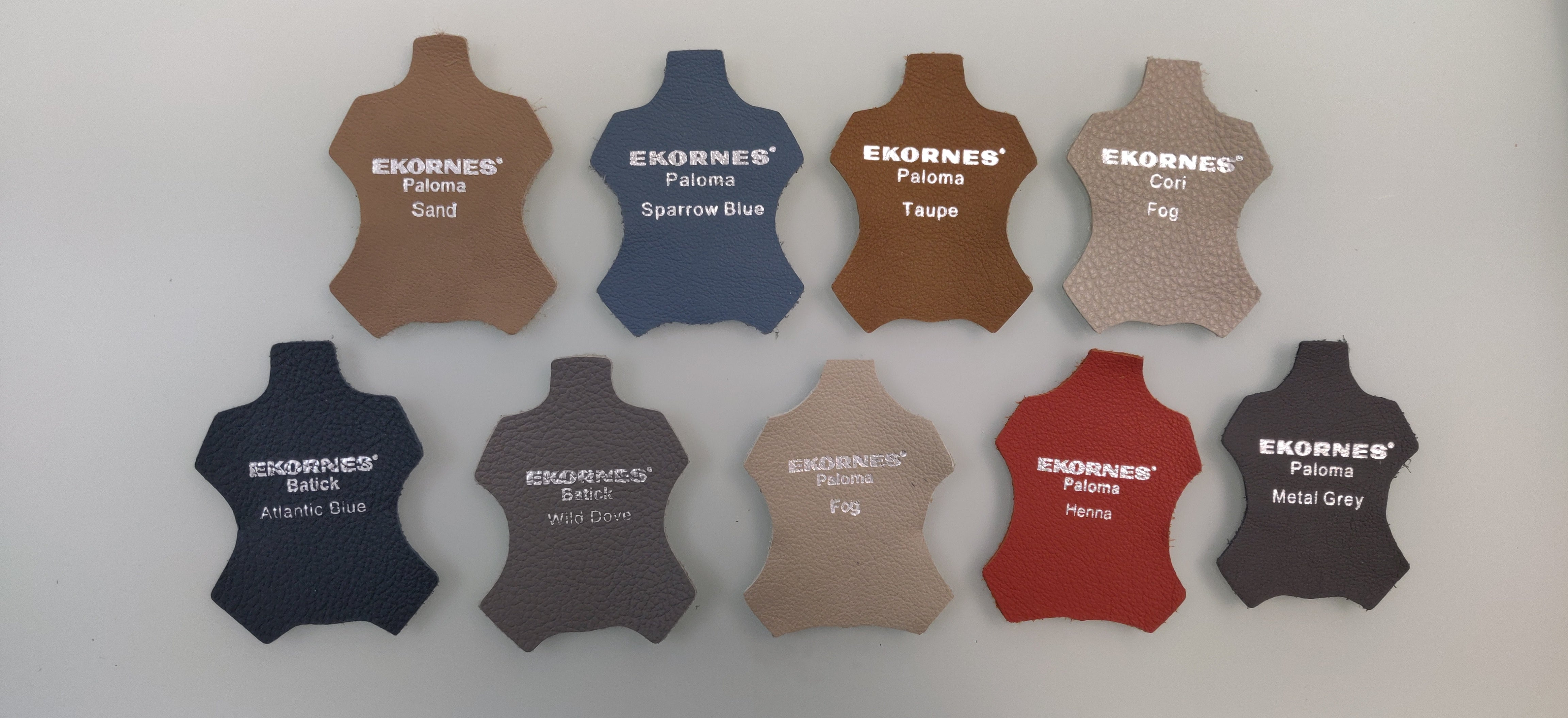 Stressless by Ekornes leather samples swatches available to mail to customers
