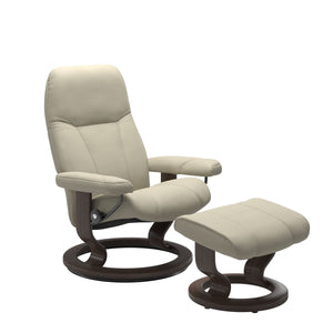 Stressless® Consul (L) Classic chair with footstool