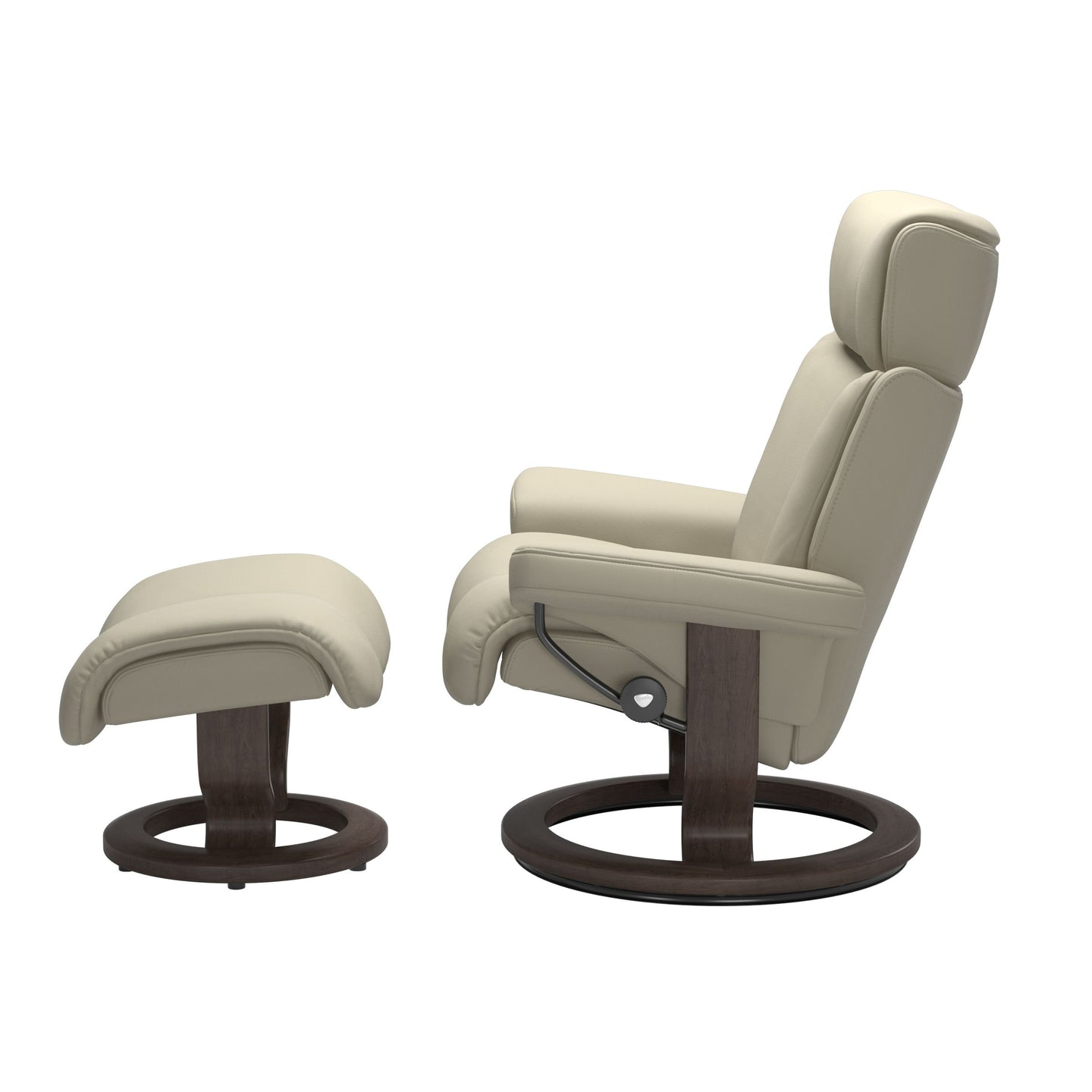 Stressless® Magic (L) Classic chair with footstool