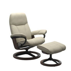 Stressless® Consul (S) Signature chair with footstool