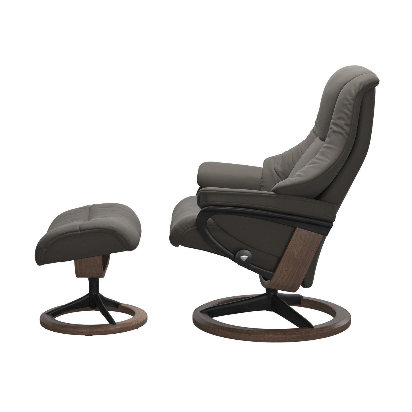 Stressless® Live (M) Signature chair with footstool