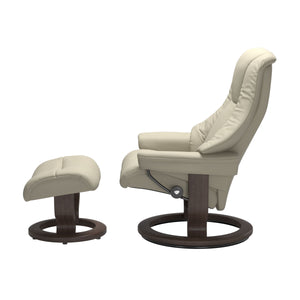 Stressless® Live (L) Classic chair with footstool