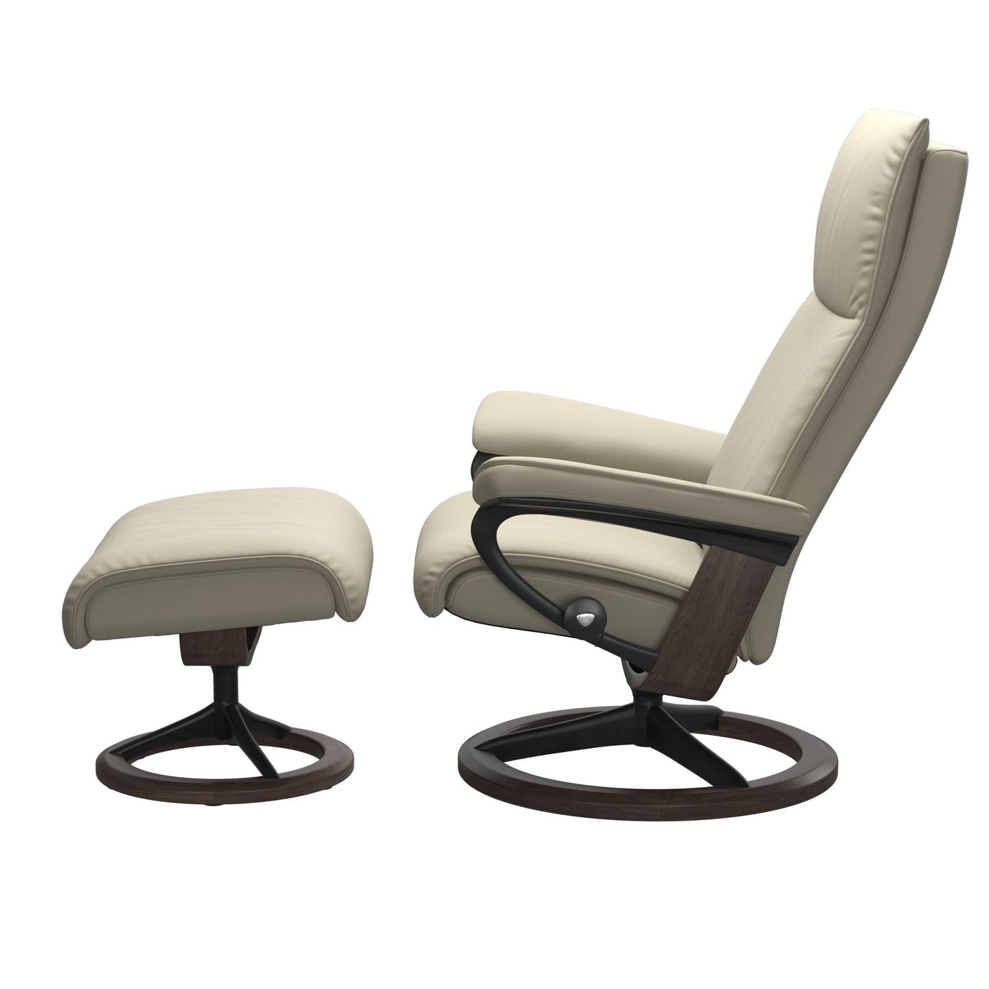 Stressless® Aura (L) Signature chair with footstool