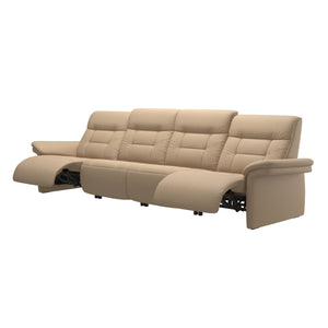 Stressless® Mary arm upholstered 4 seater with 2 Power PDDP