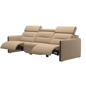 Stressless® Emily 3 seater with 2 motors arm wood