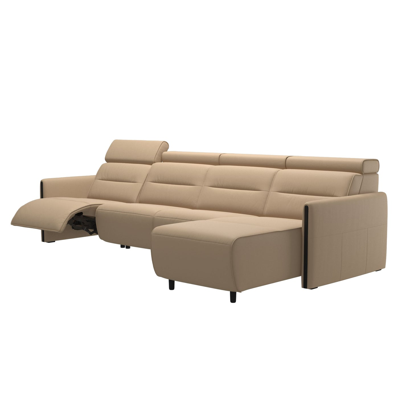 Stressless® Emily arm wood 3 seater Power left with Long Seat