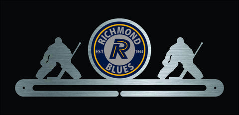 Hockey - Richmond Blues Goalie with custom logo