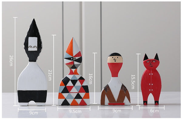 Colorful Abstract Figurines