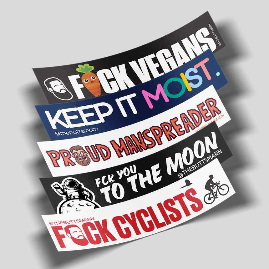 BUMPER STICKER PACK (5 STICKERS)