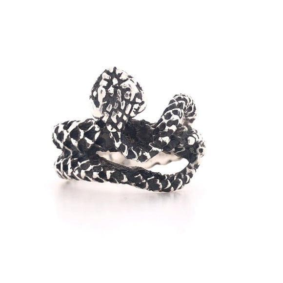 Heavy Sterling Silver Snake Ring - Size 9.5 - Sterling Ring