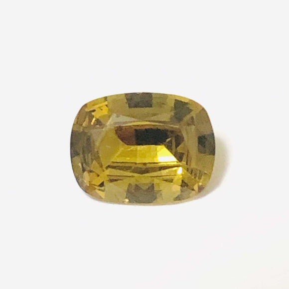 Loose Brownish Yellow Natural Sapphire 1.39 cts Cushion cut-Gemstone-Bryant Gems