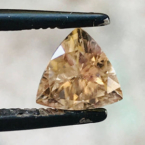 Loose Brownish Yellow Natural Sapphire 1.41 cts Trillion Cut-Gemstone-Bryant Gems