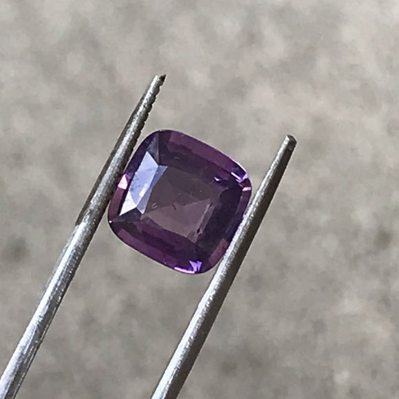 Loose Purple Natural Sapphire 3.28 cts Square Cushion Cut-Gemstone-Bryant Gems