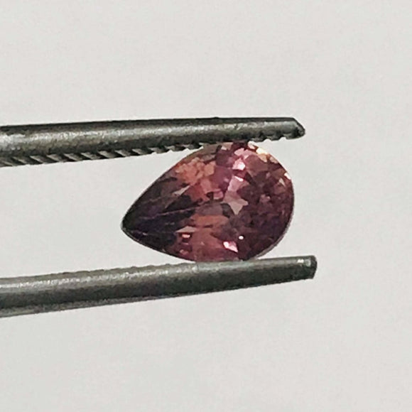 Loose Reddish Orange Natural Sapphire .87 cts Pear Shaped-Gemstone-Bryant Gems