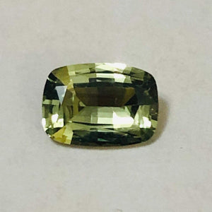 Loose Yellow Green Natural Sapphire .96 cts Cushion Cut-Gemstone-Bryant Gems