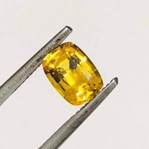 Loose Yellow Natural Sapphire 1.03 cts Cushion Cut-Gemstone-Bryant Gems
