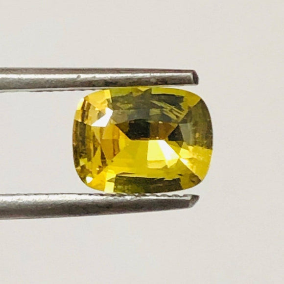 Loose Yellow Natural Sapphire 1.41 cts Cushion Cut-Gemstone-Bryant Gems