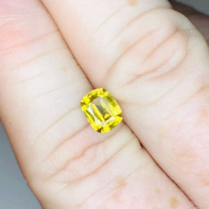 Loose Yellow Natural Sapphire 1.69 cts Cushion Cut-Gemstone-Bryant Gems