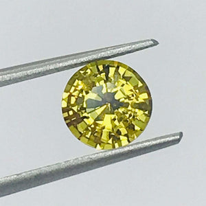 Loose Yellow Natural Sapphire 1.78 cts Round-Gemstone-Bryant Gems