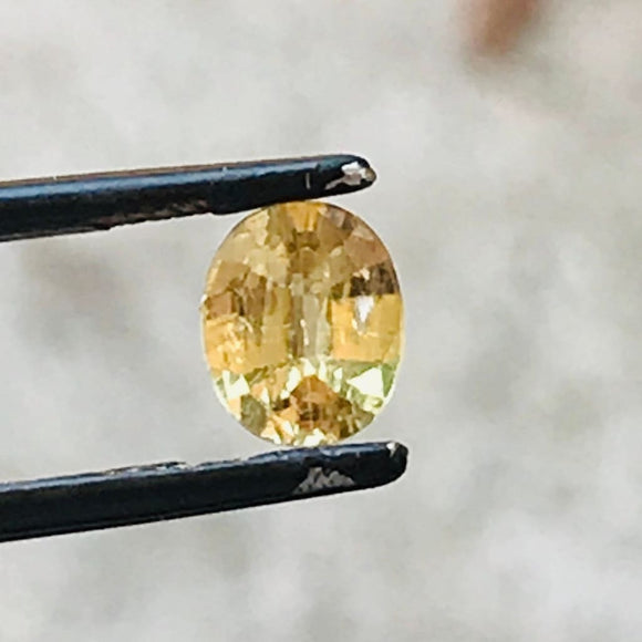 Loose Yellow Natural Sapphire .89 cts Oval-Gemstone-Bryant Gems