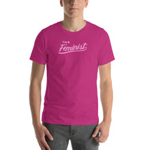 Load image into Gallery viewer, Feminist - Premium Printed T-Shirt (Unisex / Pink Lettering)