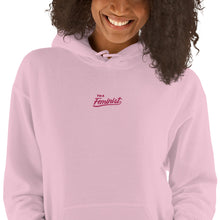 Load image into Gallery viewer, Feminist - Embroidered Hoodie (Unisex / Flamingo Lettering)