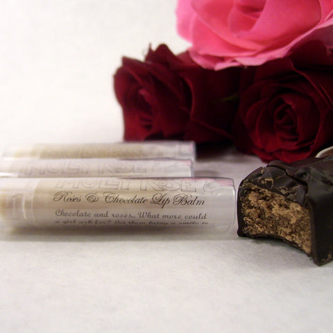 FLAVOR OF THE MONTH Roses & Chocolate Lip Balm ENDS 2/28