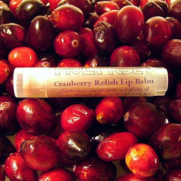 FLAVOR OF THE MONTH Cranberry Relish Lip Balm ENDS 11/30