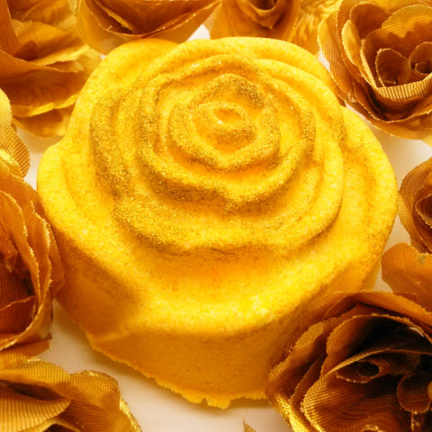 Gold Rose Salt Bomb