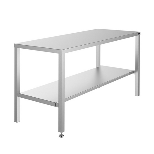 Stainless Steel Top Table With Shelf - St/St Under Frame