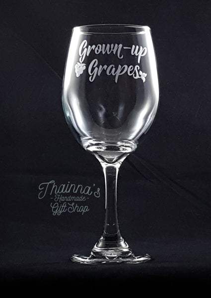 Grown Up Grapes 20 OZ Wine Glass
