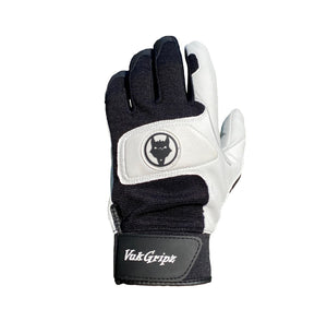 Select 2.0 Black and White Baseball and Softball Batting Gloves