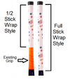 Half vs. Full American Flag Field Hockey Grip. White Field Hockey overgrip with USA stars