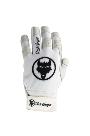 Howler White Baseball & Softball Batting Gloves Front View