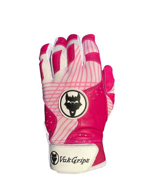 VukGripz Prowler Pink Baseball and Softball Batting Gloves