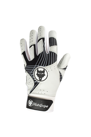 VukGripz Prowler Black Baseball and Softball Batting Gloves