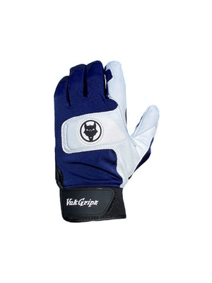 Front view of VukGripz Alpha 2.0 Navy Batting Gloves