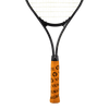 Neon Orange Tennis Racquet Overgrip with Black VukGripz Logos